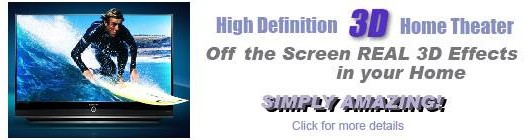 Experience HDTV DLP 3D!