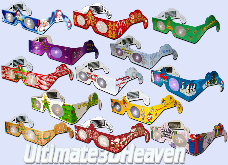 Holiday Specs 3D Glasses - Family Fun Pack Mixed Bundle ...